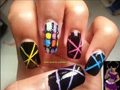OMD 31 day nail art challenge Day 23- music theme Disco!