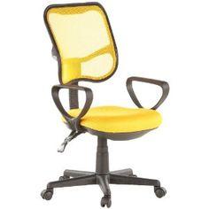 Office chair / swivel chair CITY 50 yellow mesh