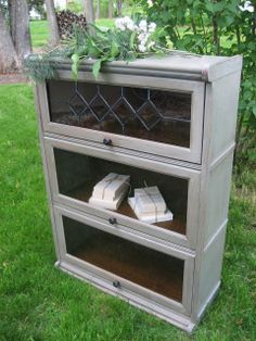 West Furniture Revival: MISS GREY THE LIBRARIAN Upcycled Furniture Before And After, Repurposed Furniture, Unique Furniture, Home Furniture, Furniture Ideas, Barrister Bookcase, Old Bookcase, Bookcases, Bookcase Makeover