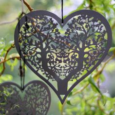 Grey Metal Hanging Heart Large - The Wedding of My Dreams