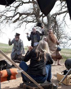 Behind the Scenes with Jack Black, Will Ferrell and Jason Segel as the Hitchhiking Ghosts for the Latest Disney Dream Portraits by Annie Leibovitz
