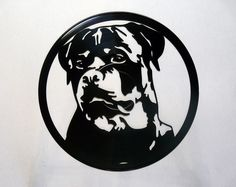 Rottweiler Vinyl Record Art Wall Hanging Old Vinyl Records - New Unique Art - NZ Made