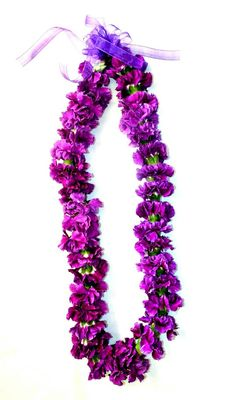 Purple Carnation Lei
