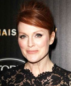 Julianne Moore, 53.  Army Brat: born at Fort Bragg, Moore attended nine schools, lived in Panama, graduated h.s in Germany and says she's never considered herself as being from any one place <3