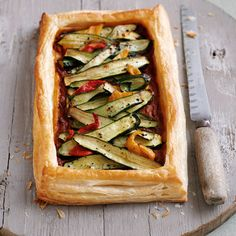 Cheese and courgette tart recipe. For the full recipe, click the picture or visit RedOnline.co.uk