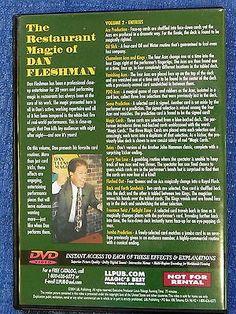 THE RESTAURANT MAGIC OF DAN FLESHMAN VOL 2 ENTREES DVD CLOSE-UP TRICKS Collectibles:Fantasy, Mythical & Magic:Magic:Tricks www.webrummage.com $19.99