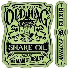 Snake Oil Label Cling Stamps - Inkadinkado
