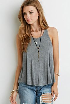 Cutout-Racerback Top | Forever 21 - 2000098637