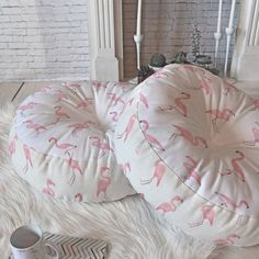 Wonder Forest Fantastic Flamingos Floor Pillow Round