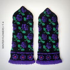 Ravelry: Winter Flowers F-4 Mitten pattern by Hobbywool