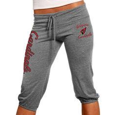 Arizona Cardinals Ladies Touchdown Tri-Blend Crop Pants - Steel