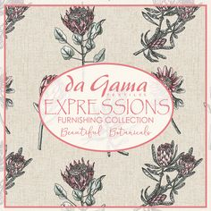 Expressions Furnishing Collection by Da Gama Textiles. Fabric Design, Cotton Fabric, Interior Decorating, Textiles, Projects, Collection, Home Decor, Log Projects, Blue Prints
