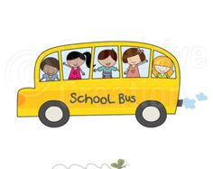 School Bus Digital Clip Art - Personal and Commercial Use