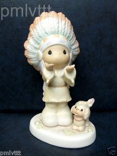 RARE Precious Moments Indian Lord Is Our Chief Inspiration 1996 Chapel Exclusive | eBay