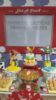 ideas for toys story birthday party food Toy Story Food, Toy Story Baby, Toy Story Theme, Toy Story Cakes, Toy Story Birthday, Birthday Desserts, Party Desserts, 3rd Birthday Parties, Birthday Ideas