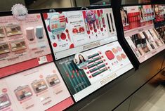 MILIMAGE – ICD 화장품 VMD Makeup Display, Pos Display, Makeup Collection, Store Design, House Design, Cosmetics, Graphic Design, Inspiration, Lipstick