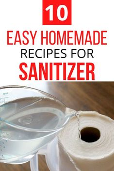 If the store is out of hand sanitizer or hand wipes don't worry. Check out these 10 recipes you can make at home with essential oils, with alcohol. Here you'll find recipes for gel and spray so go ahead and find the one you want to make. #diy #sanitizer #homemade