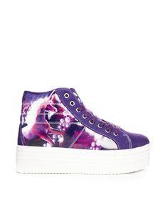 YRU Monster Purple Platform Sneaker