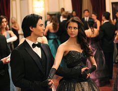 Ian Somerhalder and Nina Dobrev in The Vampire Diaries (2009)