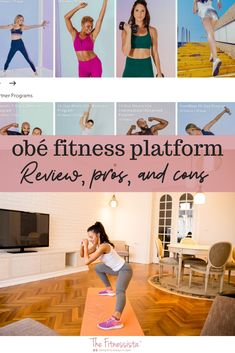 Sharing my full review of the obé fitness platform, my favorite instructors, pros, cons, and if the workouts are good. What is obe fitness you ask? It's an online fitness platform featuring 26-minute workouts in three different segments: sweat, define and flow. And it has a live class component as well as on demand options. | Fitness Workout Routines | The Fitnessista | Quick Workout At Home, Full Body Workout Routine, Workout Routines For Beginners, Fun Workouts, Body Workouts, Planet Fitness Workout, Fitness Tips, How To Have A Good Morning, Hiit Class