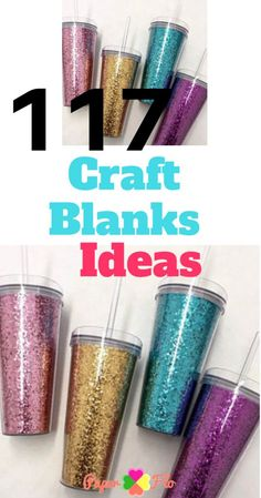 Are ready to try new craft projects? Here are 117 Craft Blanks Ideas for Cricut, Silhouette and Heat Presses - Paper Flo Designs New Crafts, Diy Crafts To Sell, Crafts For Kids, Vinyl Crafts, Wood Crafts, Easy Crafts, Cricut Vinyl, Cricut Craft, Cricut Monogram