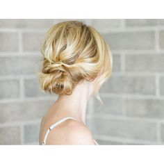 Hair DIY Low Bun with Crisscross ❤ liked on Polyvore featuring hair