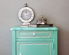 Pair of Painted Mint Green Vintage Nightstands by UptownHeirloomCo, $545.00