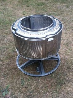 Stainless Steel Garden Incinerator - Patio Heater from recycled scrap. fire pits with wheels Stainless Steel Garden Incinerator - Patio Heater From Recycled Scrap. Barbacoa, Washing Machine Drum, Recycling Plant, Gazebos, Diy Fire Pit, Fire Pits, Fire Pit Designs, Rocket Stoves, Patio Heater