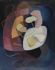 František Foltýn (Czech, 1891 - 1976) Abstract composition, 1936 - 1937 Oil on canvas, 113 x 88 cm