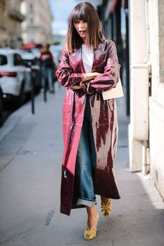 Add a statement coat to your jeans.