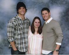 With Jared and Jensen :) Supernatural Con!