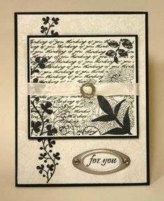 Black and White Fresh Cuts by sleepyinseattle - Cards and Paper Crafts at Splitcoaststampers