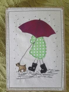 This, that and everything inbetween: More applique cards Embroidery Cards, Embroidery Designs, Free Motion Embroidery, Freehand Machine Embroidery, Machine Embroidery Applique, Applique Patterns, Sewing Appliques, Applique Designs, Fabric Postcards