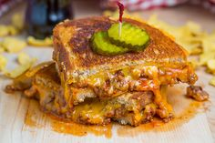 Sloppy Joe Grilled Cheese Sandwich by @Kevin (Closet Cooking)