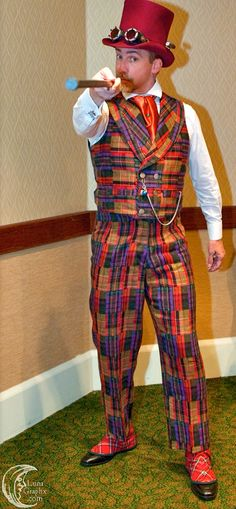 This outfit got dubbed Clash of the Tartans. It was made from vintage upholstery cashmere I found at a thrift store.