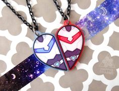 Lance & Keith Heart Necklace Set