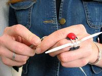Cable needle holder how to.  Keep your needle. Close while knitting your project
