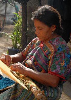 Guatemala - woman weaving textiles