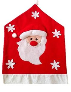 YEDAYS Christmas Dinning Chair Cover Half Stereo Santa Claus Elk Snowman Christmas Home Decoration -- Additional details @