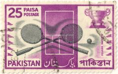 Pakistan postage stamp. 25 Paisa. #SquashStamps