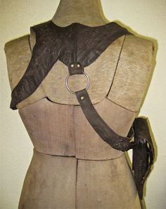 This is ridiculously awesome. Gun Holster, Leather Holster, Everyday Steampunk, Distressed Leather, Fashion Backpack, Light Bulb, Street Wear, Ford, Purses