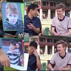 Looking at pics of when they were young. I love their reactions XD I love how ki is laughing at Thomas's baby pic then he sees he's and Thomas laughs