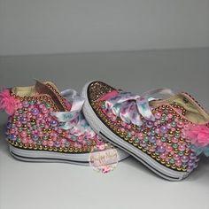 Unicorn Converse w/tutu backing   Etsy Zapatos Bling Bling, Bling Converse, Wedding Converse, Bling Shoes, Converse Shoes, On Shoes, Me Too Shoes, Girls Glitter Shoes, Girls Shoes