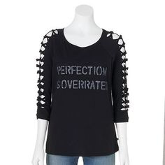 4d700b90b3684 Rock   Republic®   Perfection is Overrated   Graphic Tee - Women s