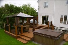 We specialise in SPA deck and patio since 200 pictures, ideas & images. Backyard Canopy, Pergola Canopy, Gazebo, Diy Pergola, Pergola Ideas, Patio Ideas, Backyard Ideas, Cool Deck, Diy Deck