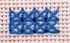 Italian Cross surface stitch.
