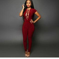 b4e33850b093 Sexy Bandage Dress-Red-027163B-31 Backless Jumpsuit