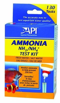 API Ammonia Test Kit Ammonia Monitor for Freshwater and Saltwater 130 Tests