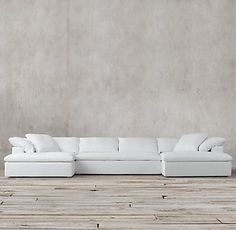 Preconfigured Cloud Track Arm Fabric U-Chaise Sectional White Sectional, Living Room Sectional, Restoration Hardware Cloud, Dream House Interior, Commercial Interior Design, Bed Furniture, Home Renovation, Slipcovers, Home Furnishings