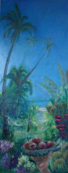 Kraaienparadijs, vijfluik Paradijs, middenpaneel olieverf op paneel, 128 x 50